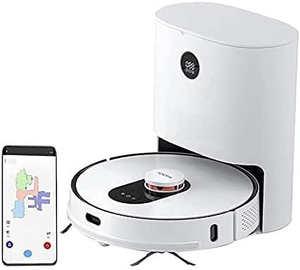 ROIDMI EVE Plus Roboterstaubsauger & Moppreiniger LDS 2700Pa mit 3L großer Staubbeutel Clean Base Sprachsteuerung Smart Dust Collection Reinigungsstation APP Control