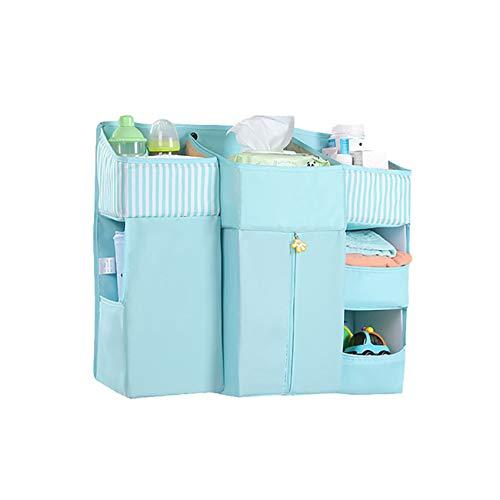unknow Growrak Bedside Organizer Pocket Under Couch Mattress Table Desk Hanging Storage Bag For Holding Books Magazines,Blue