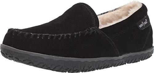Minnetonka Women's Tempe Suede Indoor and Outdoor Slippers 9 M Black