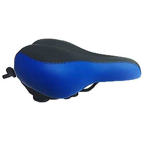 Fietszadel Fietszadel fietsstoeltje Fiets Universal Saddle Verbrede Opblaasbare Comfort Seat fietsaccessoires (Color : Navy Blue)