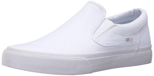 DC Shoes DC Trase Slip-on TX SE Unisex-Schuh, weiß/weiß, 39.5 EU