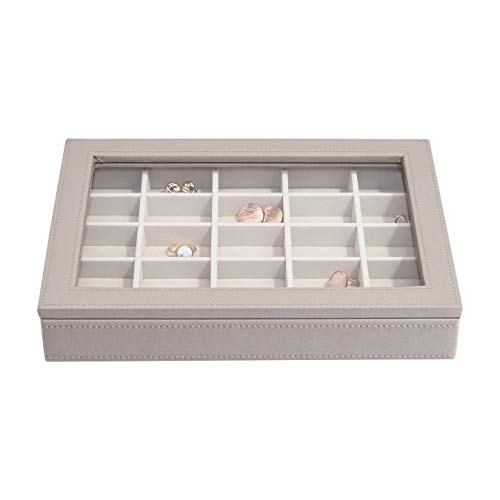 Stackers Taupe Classic Medium Jewellery Box Trinket Layer with Glass Lid
