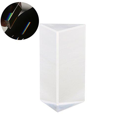UKCOCO Einzigartige Präzisions Physik,die optisches dreieckiges Prisma des Glases, 5x3x3CM unterrichtet