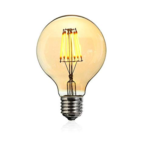 LILICEN Bombilla LED de AC220V E27 Regulable LED 6W G80 Globo Jaula Vintage Edison filamento lámpara de la Bombilla