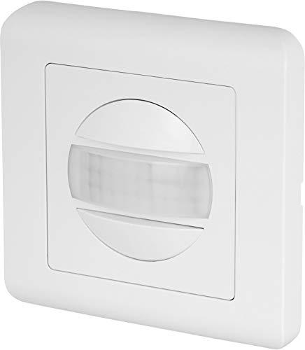 Detector de movimiento por infrarrojos, 160°, 2 cables, apto para LED, para latas empotradas de 60 mm de diámetro y enchufes de pared hueca de 68 mm de diámetro.