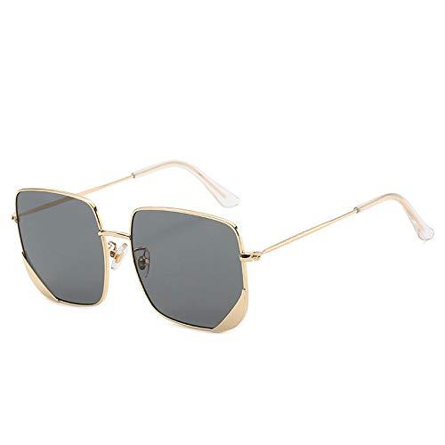Moda Gafas De Sol Cuadradas De Gran Tamaño con Marco De Metal para Mujeres Y Hombres Gafas De Sol De Diseñador Sombras Gafas De Sol Retro Vintage 1