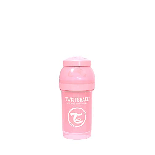 Twistshake Biberão Anticólico 180ml Pastel Rosa