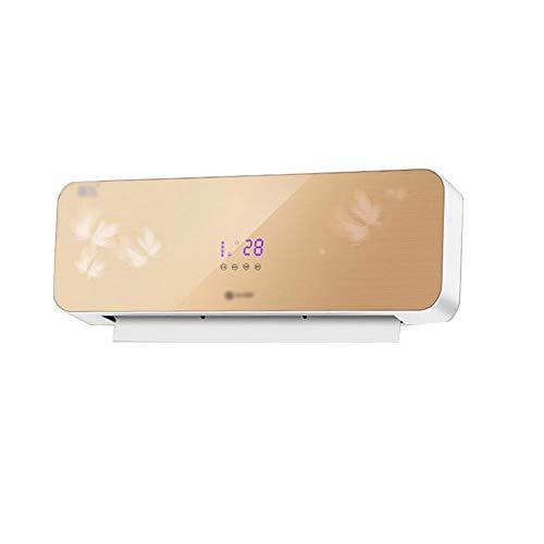 calefactores electricos Calentador doméstico de Pared Ventilador de Aire Acondicionado a Prueba de Agua para baño Que Ahorra energía Fresco y cálido Tiempo 12H 3000W
