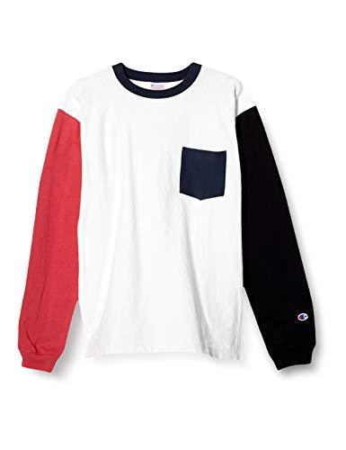 [チャンピオン] ロングTシャツ ワンポイントロゴ リバースウィーブ ロングスリーブTシャツ 綿100% C3-T412 ボーイズ ホワイト M