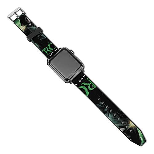 Arrow Heroes - Correas de piel para Apple Watch (40 mm, 44 mm, 38 mm, 42 mm, repuesto para hombres y mujeres, correa de piel auténtica para iWatch Series 5, 4, 3, 2, 1/SE, 38 mm, 40 mm)