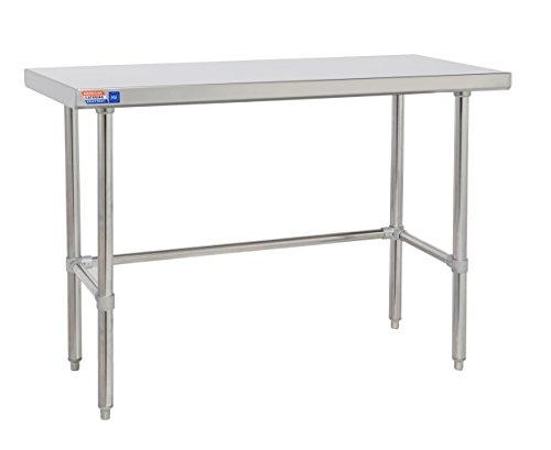Clear bajo mesa de acero inoxidable 600mm con parte superior plana sin...