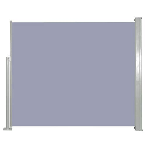 vidaXL Seitenmarkise 120x300cm Grau Sichtschutz Windschutz Sonnenschutz Balkon