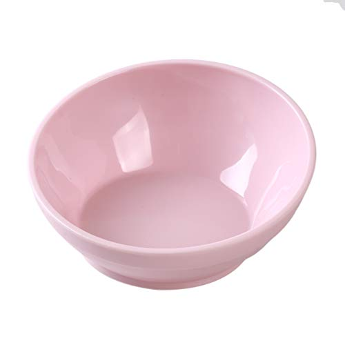 Iumer Slanted Dog Bowl Plastic Cute Anti Skid Rubber Pet Food Supplies No Spill Cat Dish,Pink,S