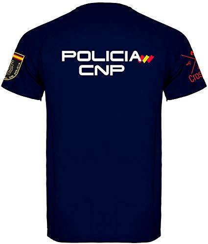 Crossfire Camiseta Técnica de Policía Nacional de Hombre (Azul Marino, S)