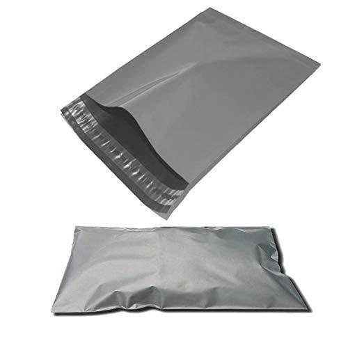100 bolsas de plástico resistentes de color gris para envíos postales, color gris 6