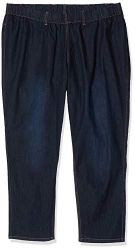 Ulla Popken Große Größen Damen Slim Skinny Jeans m.Gürtelschlaufen 69805594, Gr. 46 (Herstellergröße: 23), Blau (fashion denim 94)
