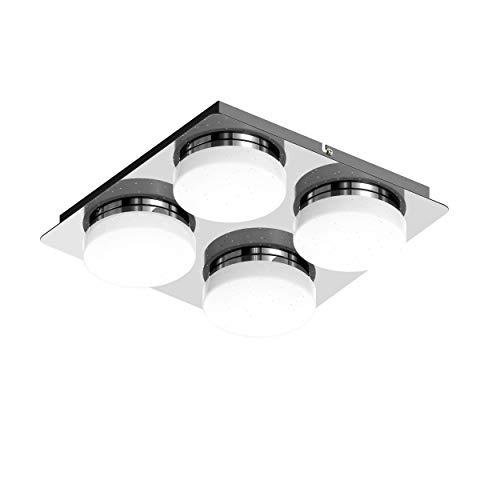 PADMA Led Bürolampe Modern Deckenlampe Wohnzimmer Kaltweiß 16W 1280 Lumen 6000K für Schlafzimmer Büro Küche