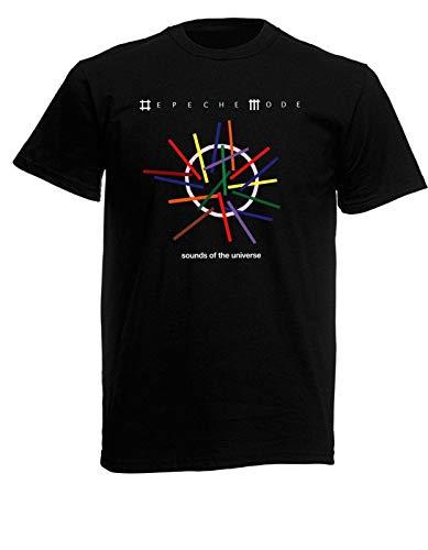 Depeche Mode Sounds of The Universe Mens Black Rock T-Shirt Mens Short Sleeves Bottoming T Shirt Casual Tee Shirt Fashion Tops Clothing