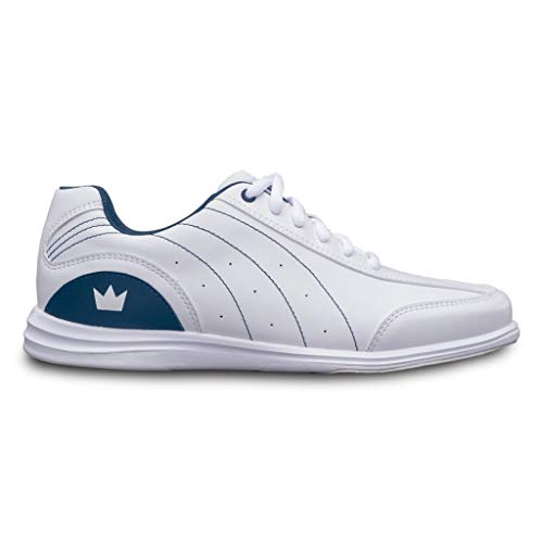 Brunswick Bowling Products Ladies Mystic Bowling Shoes- 9 1/2 B US, White/Navy, 9.5