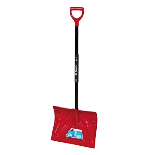 """Garant 18"""" Poly Blade Snow Shovel, with Foldable Steel Handle"""