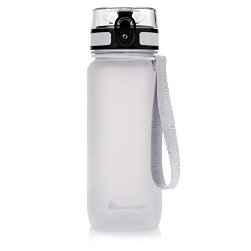meteor Botella Agua sin BPA Tritan Plastico Water Bottle Reutilizable para Niños Juventud y Adultos Ideal para Deportes Oficina Escuela Gimnasio Ciclismo Varios Tamaños y Colores