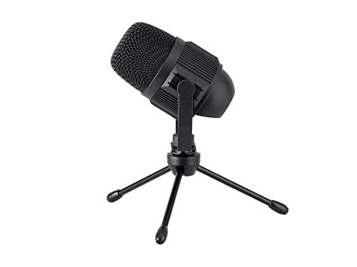 Monoprice USB Large Condenser Microphone with Stand, Plug and Play, Compatible with iOS and Android Mobile Devices, Compact Size - Stage Right Series