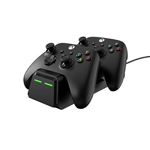 Wasserstein Controller Charging Station Compatible with Microsoft Xbox Wireless Controller 2020 Model & 2016 Model (Xbox Series X, Xbox Series S, & Xbox One) - Make Your Gaming Experience Convenient