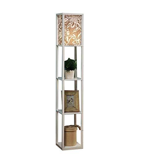 Eenvoudige staande lamp voor slaapkamer woonkamer modern Amerikaans nachtkastje lamp sofa plank opbergen lamp creatieve vloerlamp
