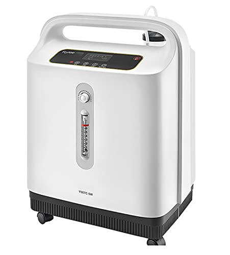 Concentrador y Generador de Oxígeno Portátil 1-9 L/min Máquina Purificadora de Aire de Oxígeno de Alta Pureza 96% de Alta Pureza para el Hogar, El Hospital y Los Viajes,Y007C5W