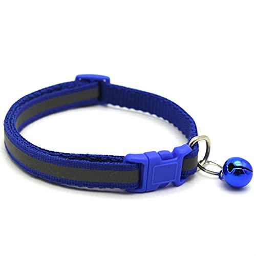 JHGJHG Collar de Mascotas Reflective Pet Bell Cuello Tamaño Ajustable Adecuado para Gatos y Perros pequeños Suministros para Mascotas Collares básicos Qianyi Colors (Color : Bule, Size : 19 32cm)
