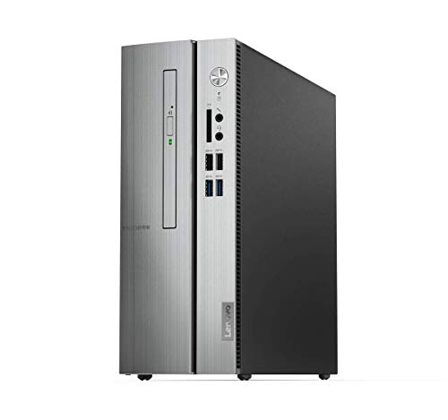 Lenovo IdeaCentre 510S Slim Desktop-PC (Intel Core i5-9400, 8 GB RAM + 1TB HDD + 512 GB SSD, DVD-Brenner, Intel UHD-Grafik 630, Windows 10 Home) schwarz-Silber
