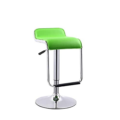 QLIGAH - Taburetes de bar con reposapiés de piel sintética, asiento monobloque, giratorio, sillas de bar regulables en altura para el restaurante de la recepción
