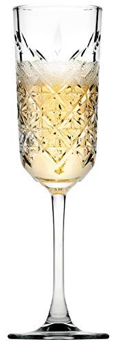 Pasabahce 440356 Timeless - Copa de champán (175 ml, 4 Unidades), Transparente