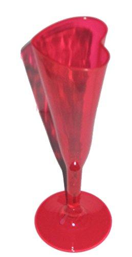 Mondial-fete - 6 Coffrets 2 Coupes à champagne cœur rouge 13 cl