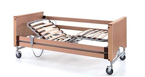 TERMIGEA Letto Elettrico da Degenza per Anziani, Malati e Disabili, 80 x 190, in Legno con Movimento Trendeleburg, Motore Combinato Piano-Rete