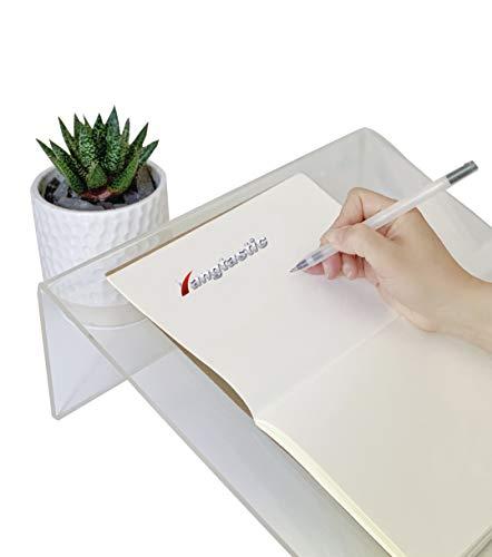 Yangtastic A4 Tablero de escritura ergonómico en ángulo de 20 grados con mango borde antideslizante portalápices. Apto para niños. Dislexia