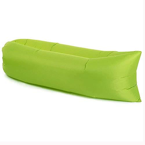 AKABELA Aufblasbares Sofa Outdoor Tragbares Wasserdichtes Luftsofa Air Lounger Sofa Liege Luftsack mit Trag (Grün, Spitze)