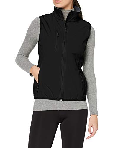 CliQue Damen Outdoor Weste Clique Ladies Softshell Vest Gilet, schwarz, 36 EU (Herstellergröße: 8)