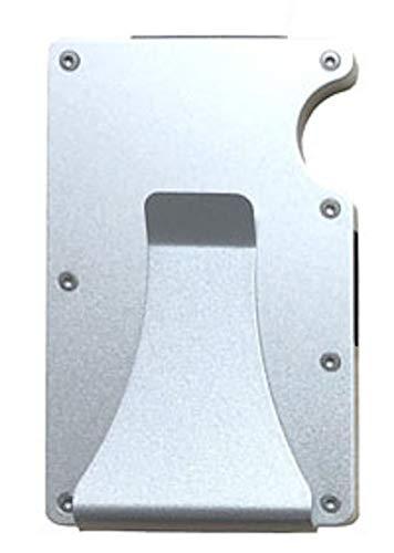Kartenetui aus Carbon, Kreditkartenetui mit Geldklammer, Kreditkarten Etuis Geldbörse Wallet Portmonee Geldbeutel mit RFID Schutz (Allu)