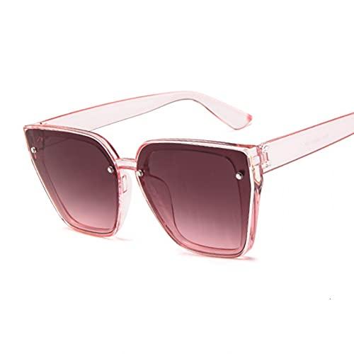 DAIDAICDK Gafas de Sol cuadradas para Mujer Hombre Colorido Ojo de Gato gradiente Viajes al Aire Libre Gafas Accesorios para Coche