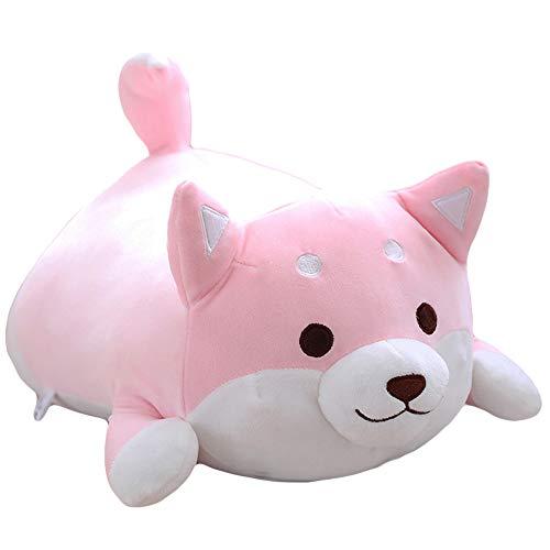 elfishgo Corgi Dog Plush Toys Creative Corgi Dog Butt Shaped Plush Soft Pillows 36cm (Pink)