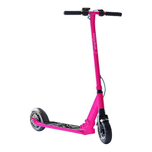 """SmartGyro Xtreme XD Pink - Patinete eléctrico al mejor precio, ruedas 8"""", 3 velocidades, plegable, ligero, velocidad 24 Km/h, autonomía de 15 Km, batería Panasonic, freno Eléctrico, scooter eléctrico, color rosa"""