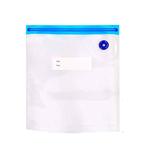N-B Vacuum Food Storage Bag, Reusable Food Packaging Freezer Bag With Hand Pump, Zero Waste Sealed, Leak-proof Kitchen Storage Bag