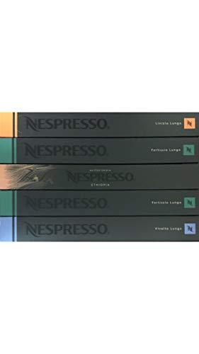 Nespresso Lungo-Set, Vivalto / Linizio / Fortissio / Bukeela, 50 Kapseln