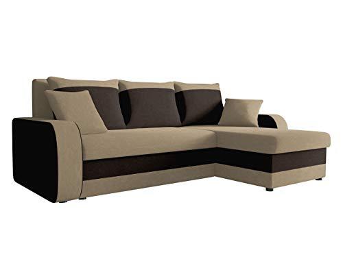 Ecksofa Kristofer, Design Eckcouch Couch! mit Schlaffunktion, Zwei Bettkasten, Farbauswahl, Wohnlandschaft! Bettfunktion! L-Form Sofa! Seite Universal! (Alova 07 + Alova 68.)