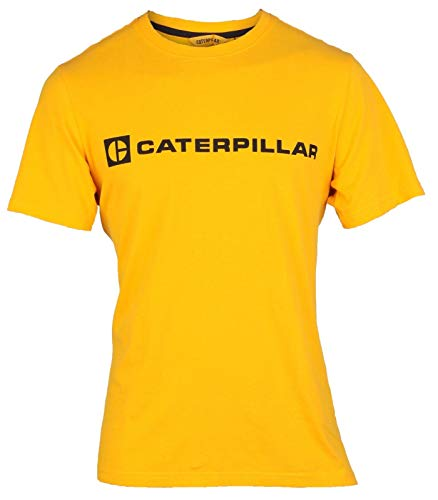 CAT Lifestyle - BLOCK CAT TEE - Geel - 3XL