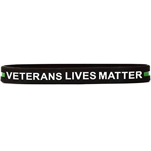 SayitBands 1 Veterans Lives Matter Wristband Bracelet