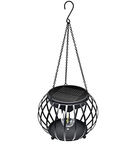 NB Linterna de Calabaza de Metal Solar, lámpara de Control de luz Inteligente para Colgar al Aire Libre, con Panel Solar de silicio monocristalino de Alta tasa de conversión