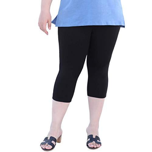 Luandge Pantalones de Talla Grande elásticos elásticos de Color Liso para Mujer con Bolsillos Pantalones Cortos de Viaje Ligeros de Ocio Diario 7XL