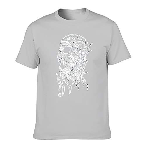 Camiseta activa para hombre, diseño con texto en inglés Gris plateado. XXL